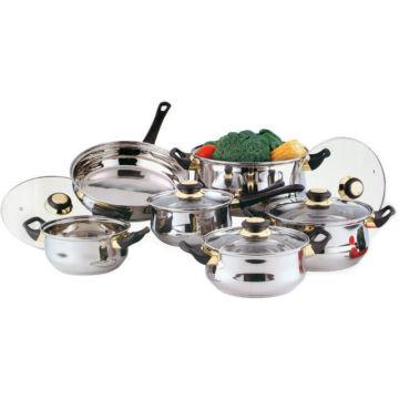 Amazon Vendor 12PC Stainless Steel Cookware Saucepan Pan Pot Set