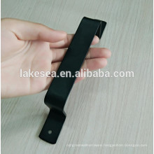 Carbon steel matt black wooden door handle for barn door