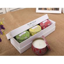 Juego de velas de regalo personalizado de soja pura en caja hermosa