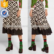 Nueva moda plisada impresa con estampado de seda del verano mini falda diaria DEM / DOM fabricación al por mayor de moda mujeres ropa (TA5019S)