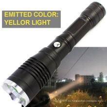 300metres de larga distancia de luz de la gama de alta potencia de luz amarilla de color antorcha linterna de caza