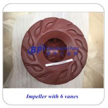 Pièces centrifuges anti-abrasion Pompes à lisier Impulseur
