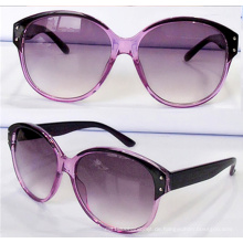 Big Lens Frames Katze Auge Mode Sonnenbrille für Frauen (14201)