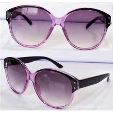 Big Lens Frames Cat Gafas de sol Moda para las mujeres (14201)