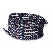 """Magnetische Granat Perlenverpackung Armbänder & Halskette 36 """""""
