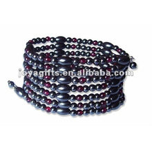 """Grenat magnétique Bracelet en perles et collier 36 """""""