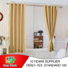 Faux Seda, Slubbed, lleno alineado 100% cortina de apagón