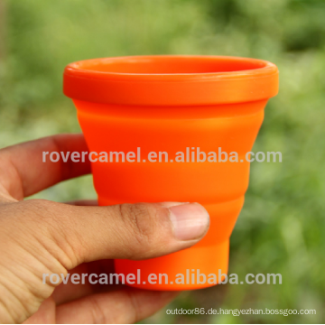 FMP-319 200 ml versenkbare Silizium Mug Outdoor Faltung Trinkwasser Tasse Tasse