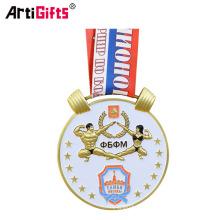 Trofeo de la medalla de oro de los deportes de culturismo de encargo barato de la trofeo