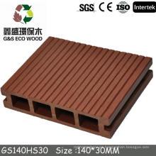 Gswpc WPC Engineered Suelos de plástico y piso de cubierta WPC precio (100% reciclado wpc decking precio)