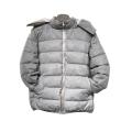 Rainbow fleece puffer winter jacket