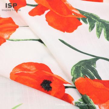 Tissus 100% viscose imprimés et teints