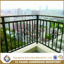 Exterior Ornamental Wrought Iron Balcony Railings
