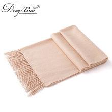 Großhandelsqualitäts-spätester Entwurfs-Mädchen-Oberseiten-langer 100% gekochter Wolle-einfacher Schal