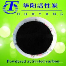 Carbón activado en polvo de madera negro 325 malla