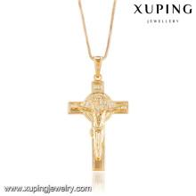 32744 Xuping novo projetado banhado a ouro pingente de cruz