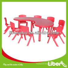 Plastic Children Table for kindergarten preschool, half moon table, cheap table LE.ZY.005