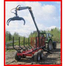Traktor mit 3 pt log Kran