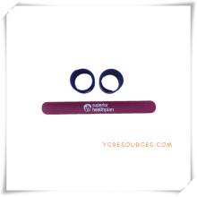 Pulsera de muñeca simple de la palmada del silicón del estilo para los regalos promocionales (OS14026)