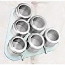 Porta-condimentos magnético aço inoxidável (CL1Z-J0604 - 6G)
