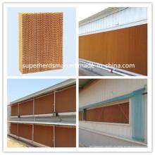 Almohadilla de enfriamiento evaporativo de alta calidad para equipos de granja de aves de corral