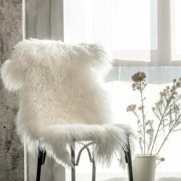 Genuine cordeiro mongol Curly Fur Pelt tapete