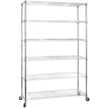 Adjustable Chrome Metal Moving Display Shelf Rack, NSF Approval