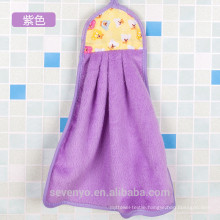 Quick dry baby gift towel squeaky clean terry towel Cotton hooded baby towel 2017 new design wrap in purple