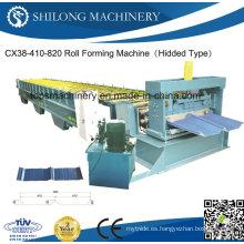 Proveedor profesional de rollo de azulejos de acero de color esmaltado formando máquina