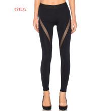 Pantalon sexy ajusté à empiècements latéraux en maille