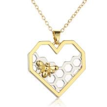 Collar De La Moda En Joyería De Acrílico Collar De Corazón En Oro Amarillo