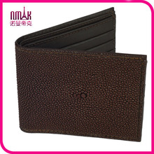 Handmade Genuine Stingray Skin Leather Men′s ID Photo Card Bifold Wallet Purse