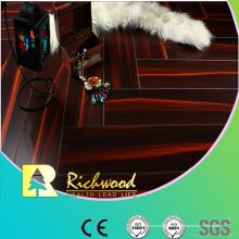 Plancher feuilleté tranché ciré par hêtre de miroir du ménage 12.3mm E1