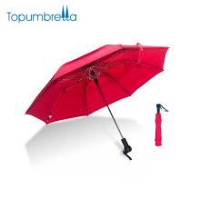 Personalize o guarda-chuva de dobramento Windproof de dupla camada da impressão de seda do Est para duas pessoas