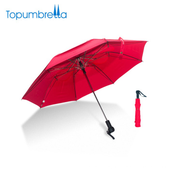 Customize Est Silk Printing Double layer Windproof Folding Umbrella For Two People