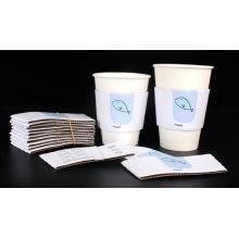 Mangas de copo de papel impressas para beber quente