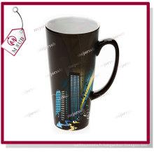17oz brillant noir Latte chaleur sensible couleur changeante Mug