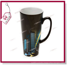 17oz Sublimation Ceramic Magic Mug in Black