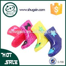 botas de lluvia transparentes de lluvia de pvc para niños