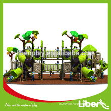 Outdoor playground equipment with big sliders for toddlers