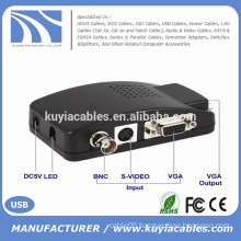 BNC to VGA video converter TV to PC convertor