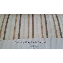Nouveau tissu de rideau transparent Organza Vope à rayures de projet populaire 008289