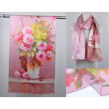Châles imprimés numériques en soie (13-BR110303-1)