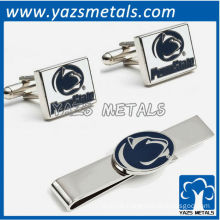 Penn State university nittany lions tie bars and cufflinks, custom made metal tie clip with design