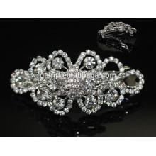 Chapeaux de cheveux en strass charmants Accessoires de cheveux pour filles Glitter Crystal Barrette