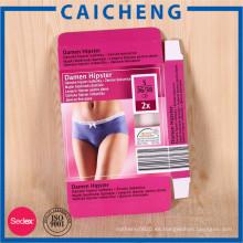 Caja de empaquetado impresa colorida colorida de la ropa interior de la cartulina