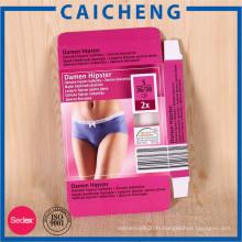 Boîte d'emballage de lingerie en carton personnalisée imprimée colorée