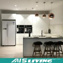 Meubles d'armoires de cuisine pour rangement de laqué blanc à haute brillance (AIS-K119)