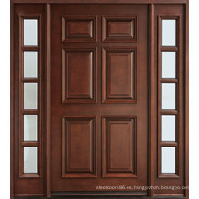 Diseños de puerta de madera maciza de estilo tradicional