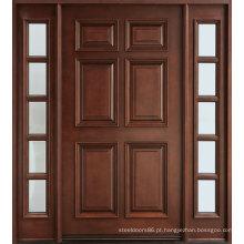 Projetos de porta de madeira sólida de estilo tradicional